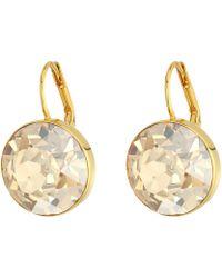 Swarovski Bella Pierced Earrings Gold Earring Lyst