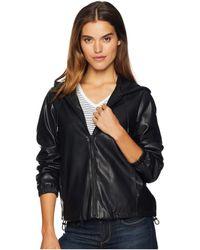 Sam Edelman - Faux Leather Hoodie (black) Women's Clothing - Lyst