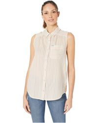 09b430c35d8 Sanctuary Steady Boyfriend Shirt (indigo Stripe) Clothing in Blue - Save  36% - Lyst