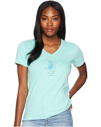 Life Is Good. - Fireflies Shine On Crusher Vee Tee (cool Aqua) Women's T Shirt - Lyst