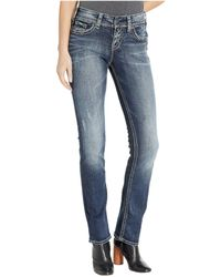 14fde1bb Silver Jeans Co. Tuesday Low Rise Slim Bootcut Jeans In Indigo L12602asc275  (indigo) Women's Jeans in Blue - Lyst