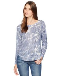 Nally & Millie - Long Sleeve Marble Print Waffle Top (multi) Women's Clothing - Lyst
