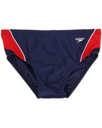 Speedo - Launch Splice Brief (navy/red/white) Men's Swimwear - Lyst
