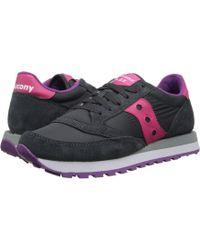 Saucony - Jazz Original (charcoal/pink) Women's Classic Shoes - Lyst