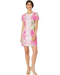 4d5710ea0c Lilly Pulitzer - Maisie Stretch Shift Dress (resort White) Women s Clothing  - Lyst