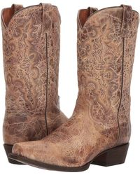 Dan Post - Bennett (distressed Brown) Cowboy Boots - Lyst