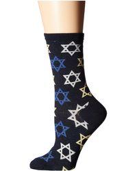 27c33558309 Socksmith - Star Of David (navy) Women s Crew Cut Socks Shoes - Lyst