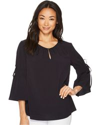 Ellen Tracy - Ruched Sleeve Top - Lyst