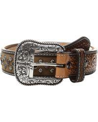 Ariat - Scroll Tab Belt (black/tan) Men's Belts - Lyst