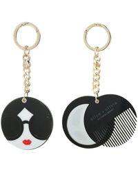 Alice + Olivia Mirror Comb Key Charm - Black
