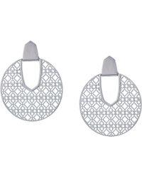Kendra Scott - Diane Earrings (rhodium Filigree Metal) Earring - Lyst