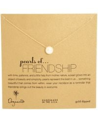 Dogeared - Pearls Of Friendship Necklace (gold Dipped) Necklace - Lyst