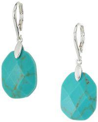 Lauren by Ralph Lauren - Turquoise Stone Drop Earrings - Lyst