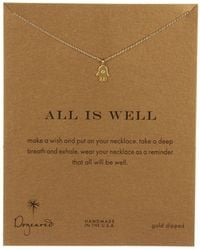 Dogeared | All Is Well Hamsa Reminder Necklace | Lyst