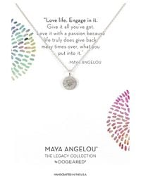 Dogeared - Maya Angelou: Love Life, Engage In It Necklace - Lyst