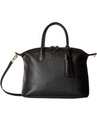 Tory Burch - Mcgraw Slouchy Satchel (black) Satchel Handbags - Lyst