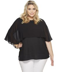 CK Calvin Klein - Plus Size Short Sleeve Ruffle Top - Lyst