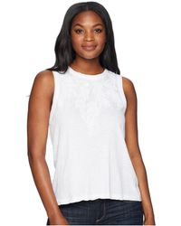 Lucky Brand - Embroidered Leaf Tank Top - Lyst