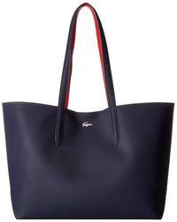 Lacoste - Anna Large Reversible Shopping Bag (peacoat Salsa) Handbags - Lyst