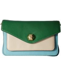 73c90ab509e35 Frances Valentine - Tess Color Block Clutch (light Blue oyster green) Clutch