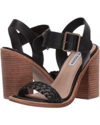 852fedba7e0 Steve Madden - Cadence Heeled Sandal (white Leather) High Heels - Lyst