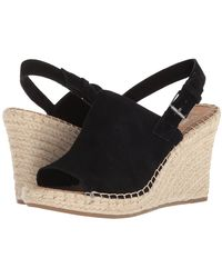 TOMS - Monica (black Suede) Women's Wedge Shoes - Lyst