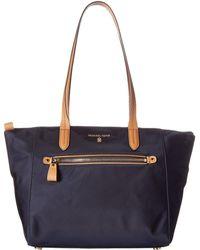 4a057f16bba95 MICHAEL Michael Kors - Nylon Kelsey Medium Top Zip Tote (admiral) Tote  Handbags -