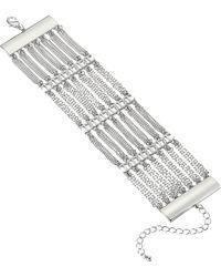 Steve Madden - Casted Layered Curb Chain Bracelet (silver) Bracelet - Lyst