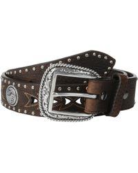Ariat - Arrow Pierced Concho Belt (brown) Men's Belts - Lyst