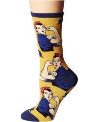 Socksmith - Rosie (yellow) Women's Crew Cut Socks Shoes - Lyst