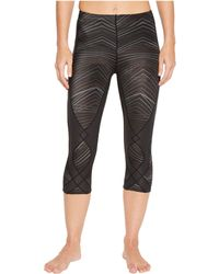 CW-X - Stabilyxtm 3/4 Tight (black/rainbow Stitch) Women's Workout - Lyst