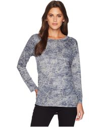 Nally & Millie - Burnout Crackle Print Top (multi) Women's Clothing - Lyst