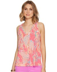 5b21e2d53c44c Lilly Pulitzer - Jaylynne Top (multi Never Been Betta Reduced) Women s  Sleeveless - Lyst