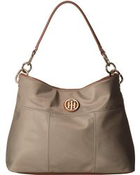 Tommy Hilfiger - The Signature Smooth Nylon Small Hobo - Lyst