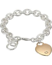 Guess - Heart Bracelet (silver/rose Gold) Bracelet - Lyst