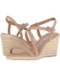 Calvin Klein - Bellemine Espadrille Wedge (soft Platinum) Women's Wedge Shoes - Lyst