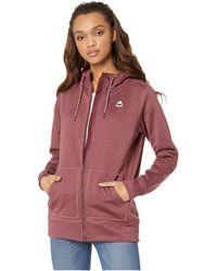 Burton - Oak Full Zip Hoodie (port Royal Heather) Women's Sweatshirt - Lyst