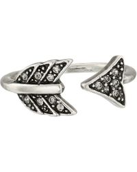 House of Harlow 1960 - Arrow Affair Ring (silver) Ring - Lyst