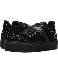 The Kooples - Velvet Trainers With Studs - Lyst