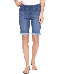 Liverpool Jeans Company - Sienna Pull-on Rolled-cuff Bermuda In Silky Soft Denim In Coronado Mid - Lyst