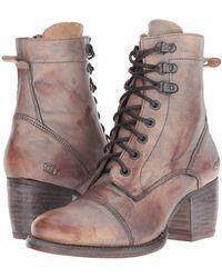 Bed Stu - Judgement (teak Taupe) Women's Dress Lace-up Boots - Lyst