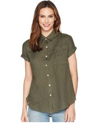 Allen Allen - Short Sleeve Camp Shirt (cilantro) Women's Short Sleeve Button Up - Lyst