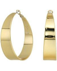 Vince Camuto - Tapered Hoop Earrings (gold) Earring - Lyst