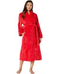 Nautica - Long Cable Plush Robe (pink) Women's Robe - Lyst