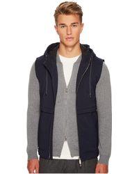 Eleventy | Wool Flannel Hooded Vest | Lyst