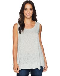 Nally & Millie - High-low Tank With Back Panel (heather Grey) Women's Sleeveless - Lyst