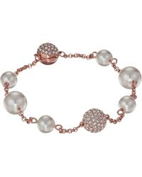 Swarovski - Remix Collection Mixed White Crystal Pearl Bracelet - Lyst