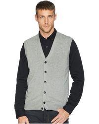 Perry Ellis - Cotton Modal Knit Sweater Vest (smoke Heather) Men's Vest - Lyst