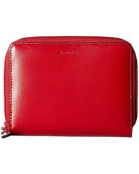 Lodis Audrey Rfid Laney Continental Double Zip Wallet - Red