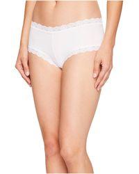 Hanky Panky - Organic Cotton Boyshort W/ Lace (black) Women's Underwear - Lyst